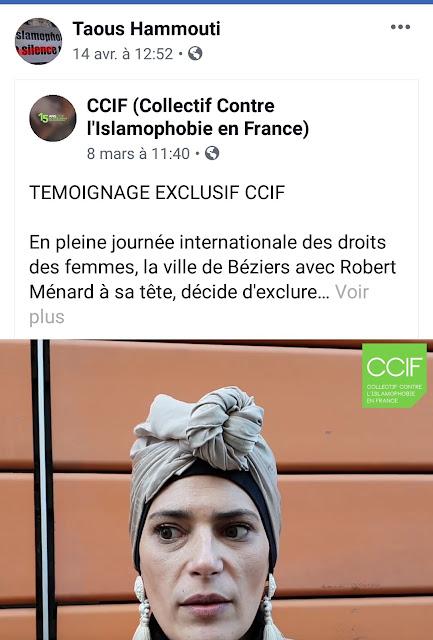 Taous Hammouti aime partager des publications du CCIF