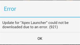 Fix Google Play Store Error Code 921