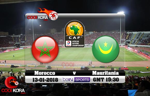 مشاهدة مباراة المغرب وموريتانيا اليوم 13-1-2018 بطولة أفريقيا للاعبين المحليين