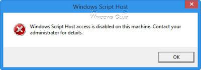 Cara Mengatasi Pesan Windows Script Disable