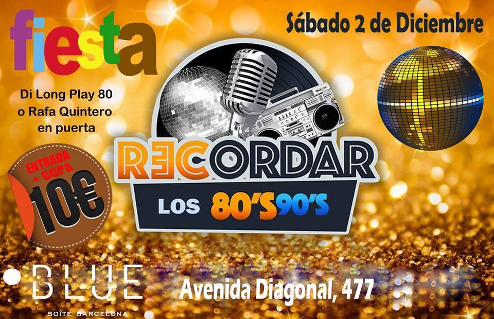 Flyer Fiesta 80s/90s Todo Éxitos