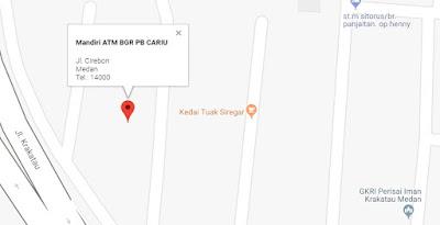 gambar google map lokasi atm setor tunai mandiri di medan