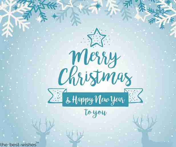 merry christmas and happy new year to you