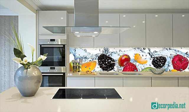 unique 3d glass backsplash panels for modern kitchen, 3d backsplash panel