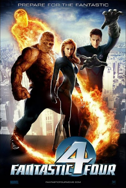 Poster Of Fantastic Four 2005 720p Hindi BRRip Dual Audio Full Movie Download