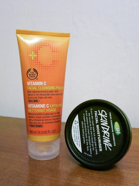 The Body Shop Vitamin C Cleanser and LUSh Skin Drink