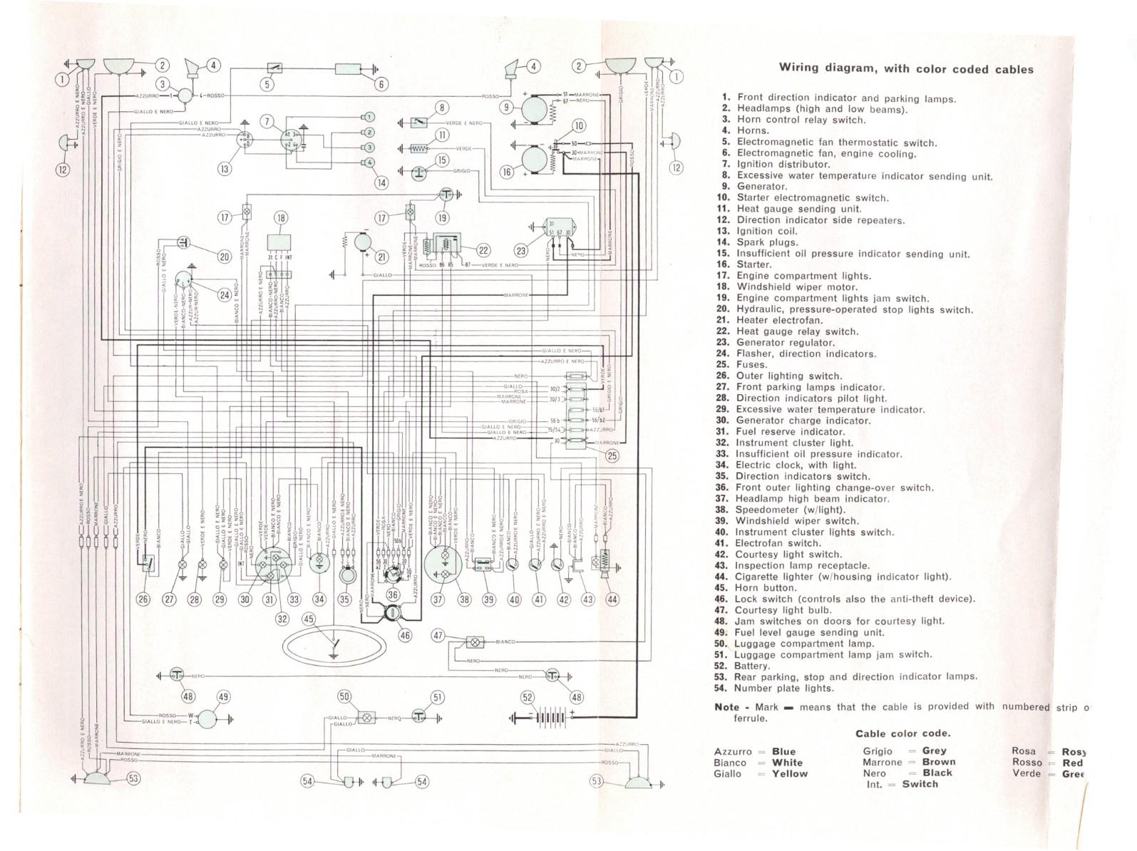 free auto wiring diagram  fiat 1500 wiring diagram