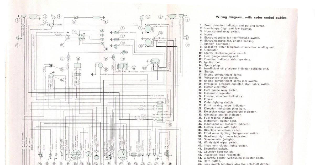 Free Auto Wiring Diagram: Fiat 1500 Wiring Diagram