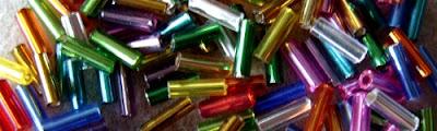 glass bugle beads