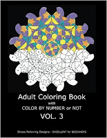Adult Coloring Book With Color By Number or NOT - Volume 3 by C. R. Gilbert