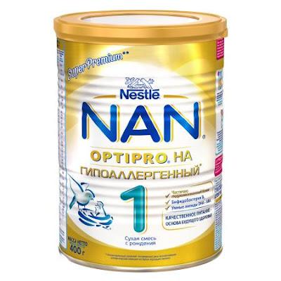 Sữa NAN HA không gây dị ứng số 1 hộp 400 gr - Sữa NAN Nga xách tay chính hãng