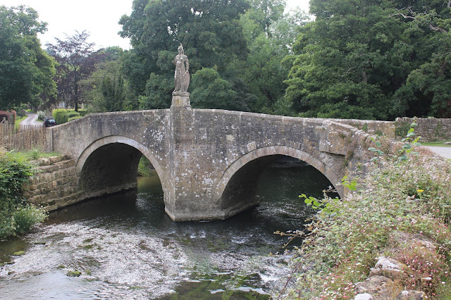 Bridge over the river, Frome just outside the gardens at Iford