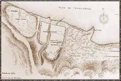Σχεδιάγραμμα της πόλης της Tραπεζούντας,του 19ου αιώνα