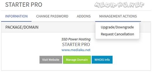Cara Upgrade Paket Hosting IdCloudHost