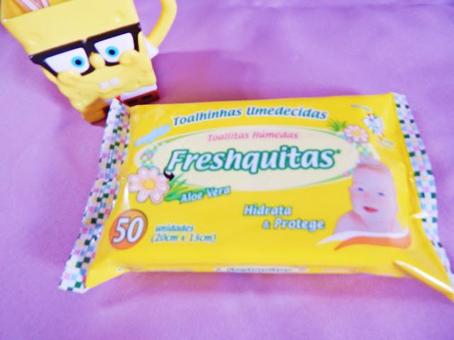 A indicação da semana são essas toalhas umedecidas que você usa no bebe e também pode usar pra tirar a make por exemplo