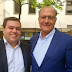 Prefeito Leandro Luciano dos Santos esteve com o ex-governador Geraldo Alckmin