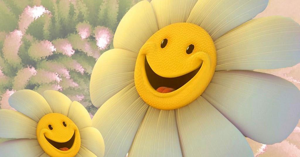 картинка улыбающегося цветка типу трость