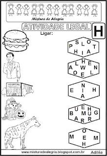 Sequência alfabética para alfabetização