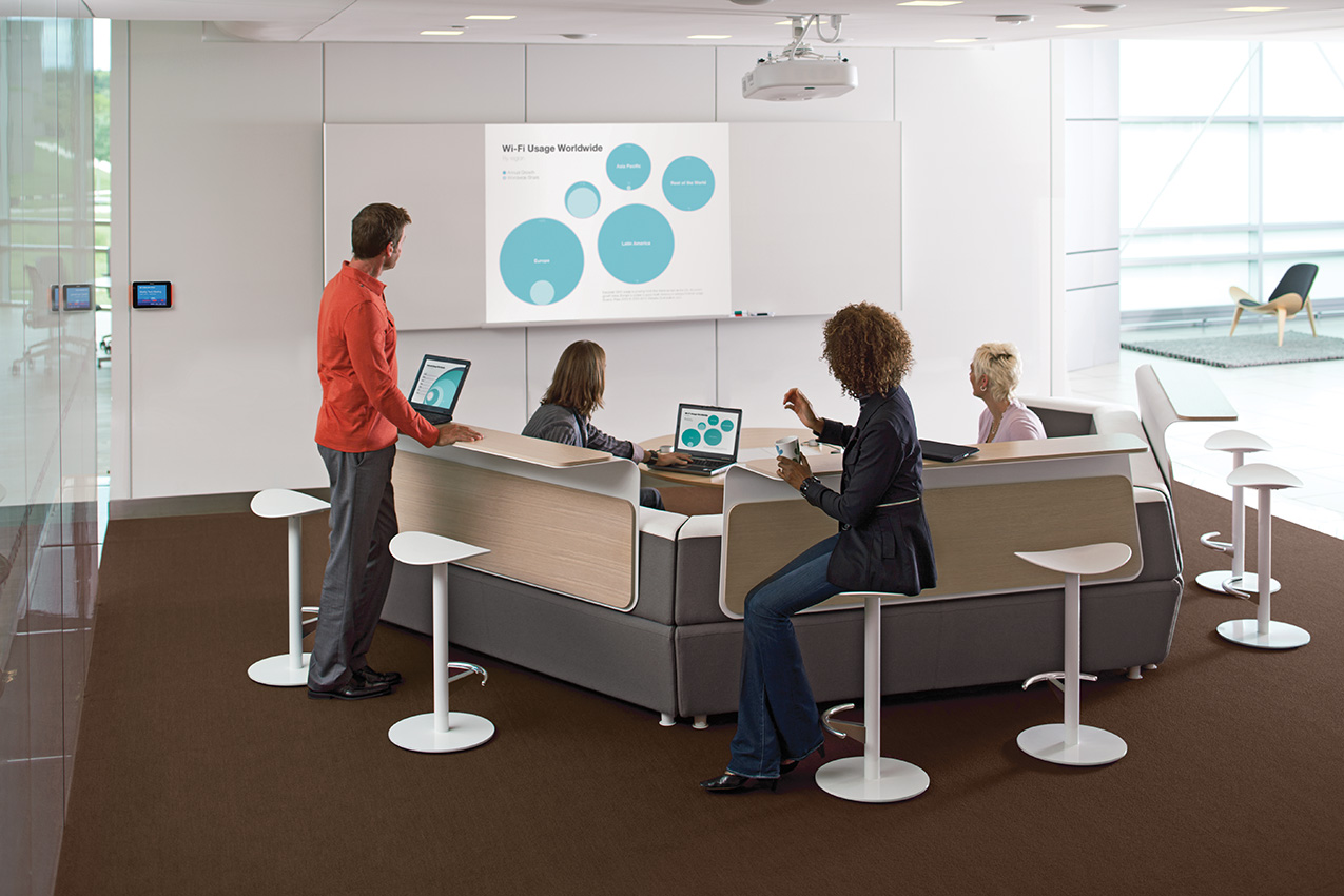 Arbee Office Furniture: media:scape collaborative settings