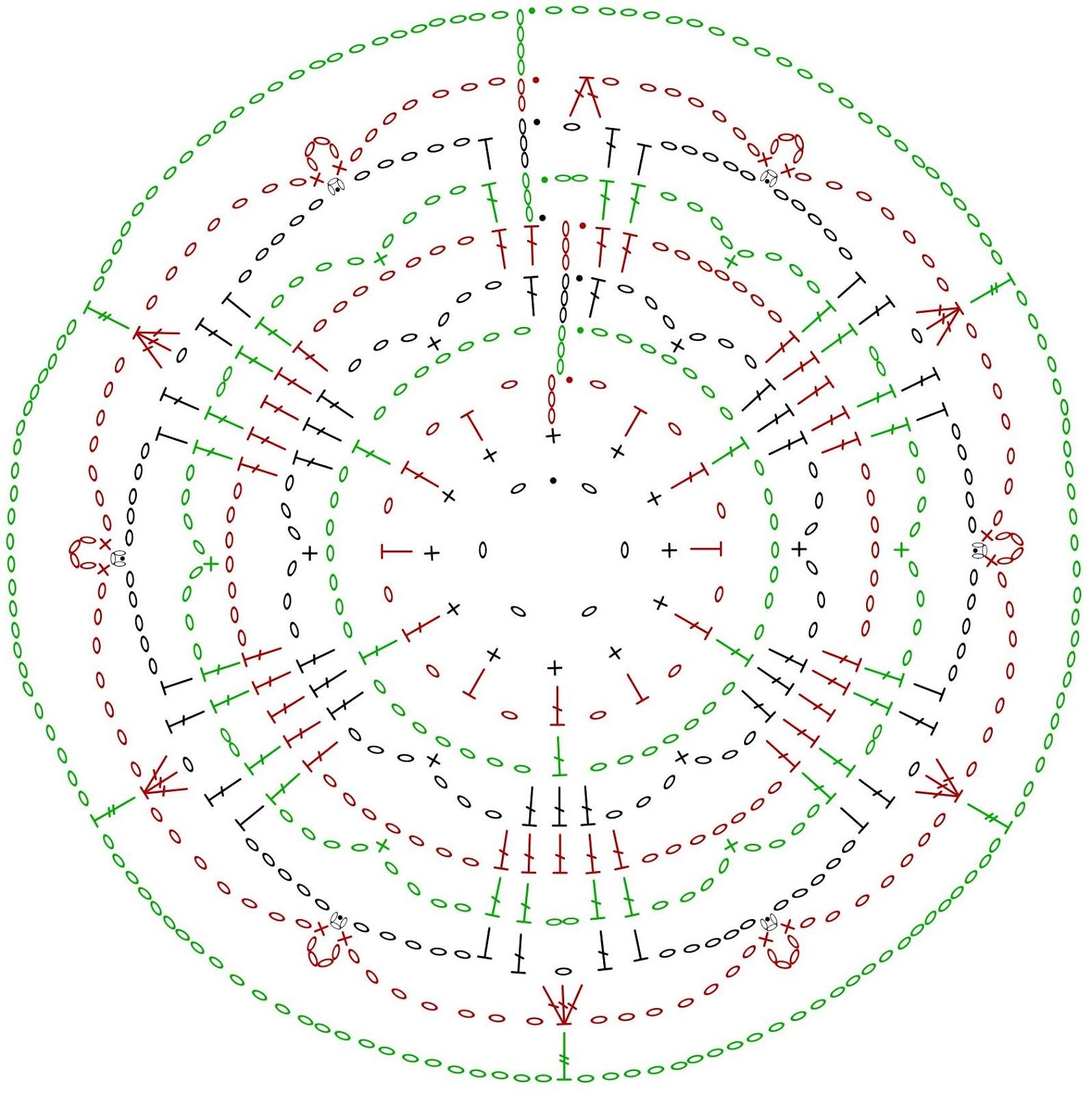Grid Mammal Crafts Last Minute Part 2crochet Snowflakes Snowflakescrochetpatterndiagram Chart 1 Snowflake A