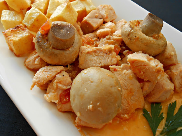 pollo-con-funghi-e-patate