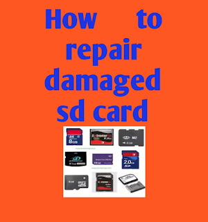 How to repair damaged sd card 1