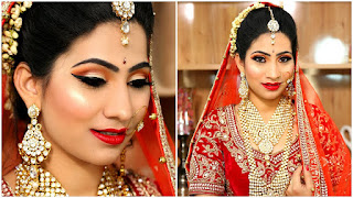 How To Make A Beauty Parlor Bridal Makeup - Step by Step Tutorial for Beginners | Beauty tipsji