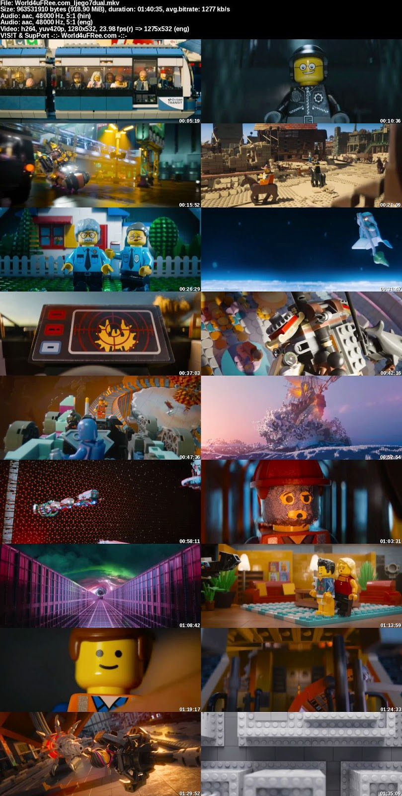 The Lego Movie 2014 Hindi Dubbed Dual Audio 5.1 BRRip 720p ...
