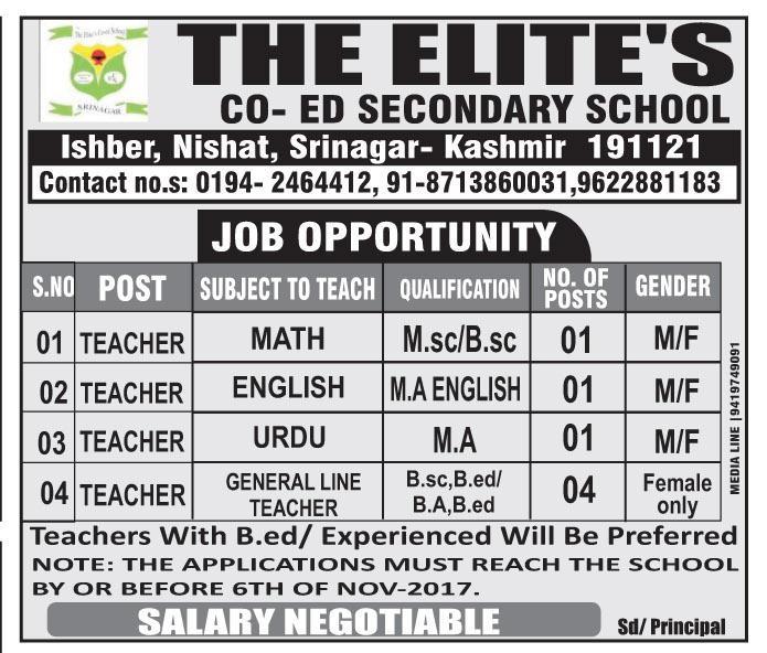 MADELEINE: Elite vacancies