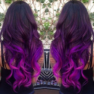 bright purple ombre
