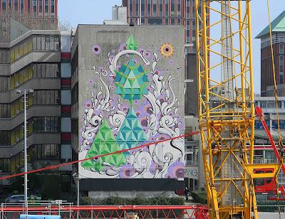 Projecteren little manhattan bij metrohalte cornelis lelylaan - Nieuw muurschildering ...