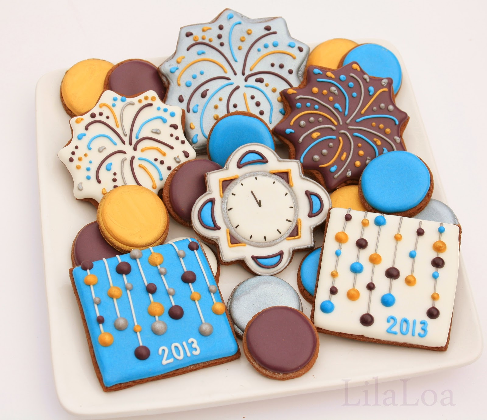 Cookie Cake Icing Designs