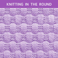Basketweave Kniting in the round