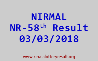NIRMAL Lottery NR 58 Results 03-03-2018