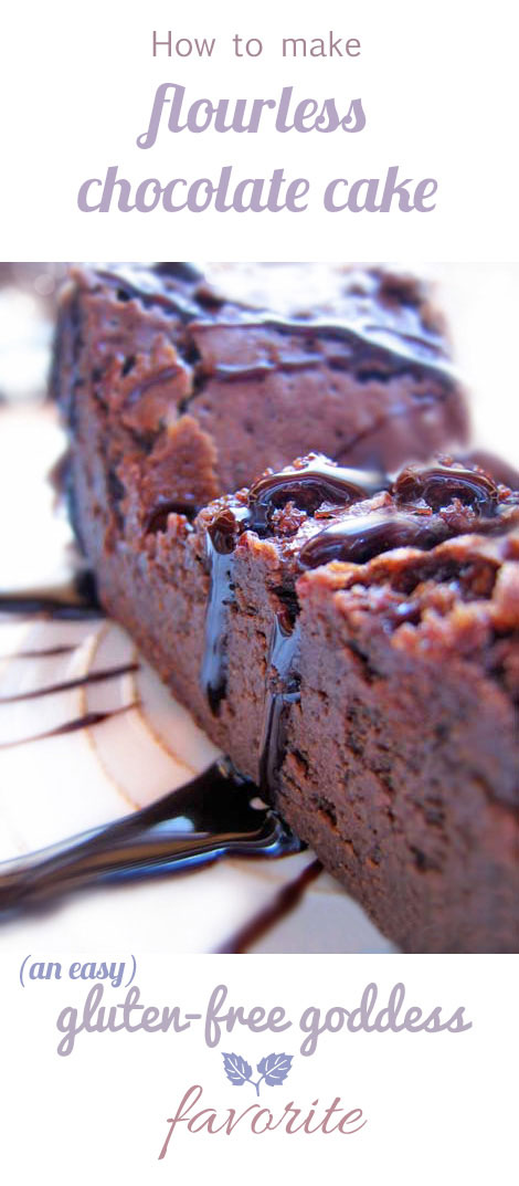 Karina's How to tips and recipe for her easy gluten-free Flourless Chocolate Cake.