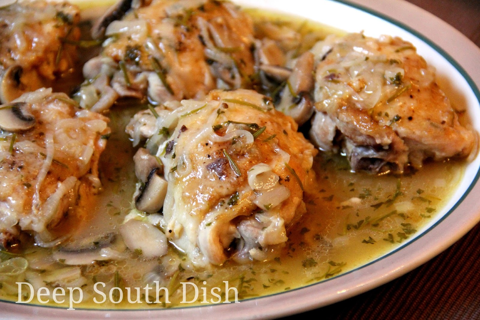 Deep South Dish: Braised Chicken Thighs with Onions and ...