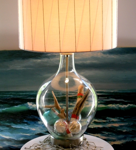 coastal design Holiday lamp