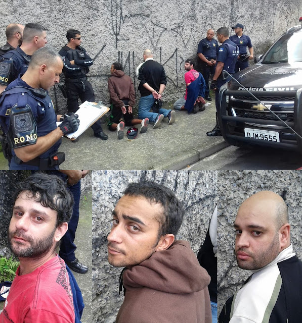 ROMO da GCM de Santo André e GARRA detém elementos em carro roubado