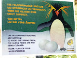 placuta cu informatii despre pinguinii cataratori
