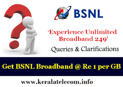 BSNL extended promotional Unlimited Combo Broadband plan - 'Experience Unlimited BB 249' till 31st December 2016