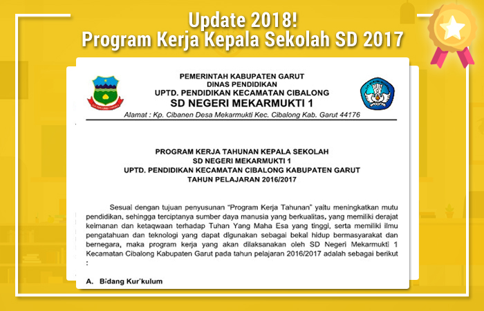Program Kerja Kepala Sekolah SD 2017