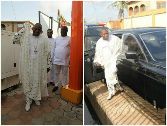 Flamboyant Lagos pastor steps out to church in his customized Roll Royce (Photos)
