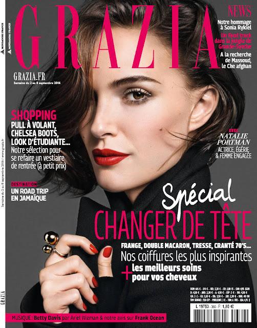 Actress, @ Natalie Portman - Grazia France, September 2016