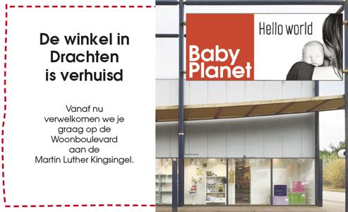 BabyPlanet Drachten is verhuisd