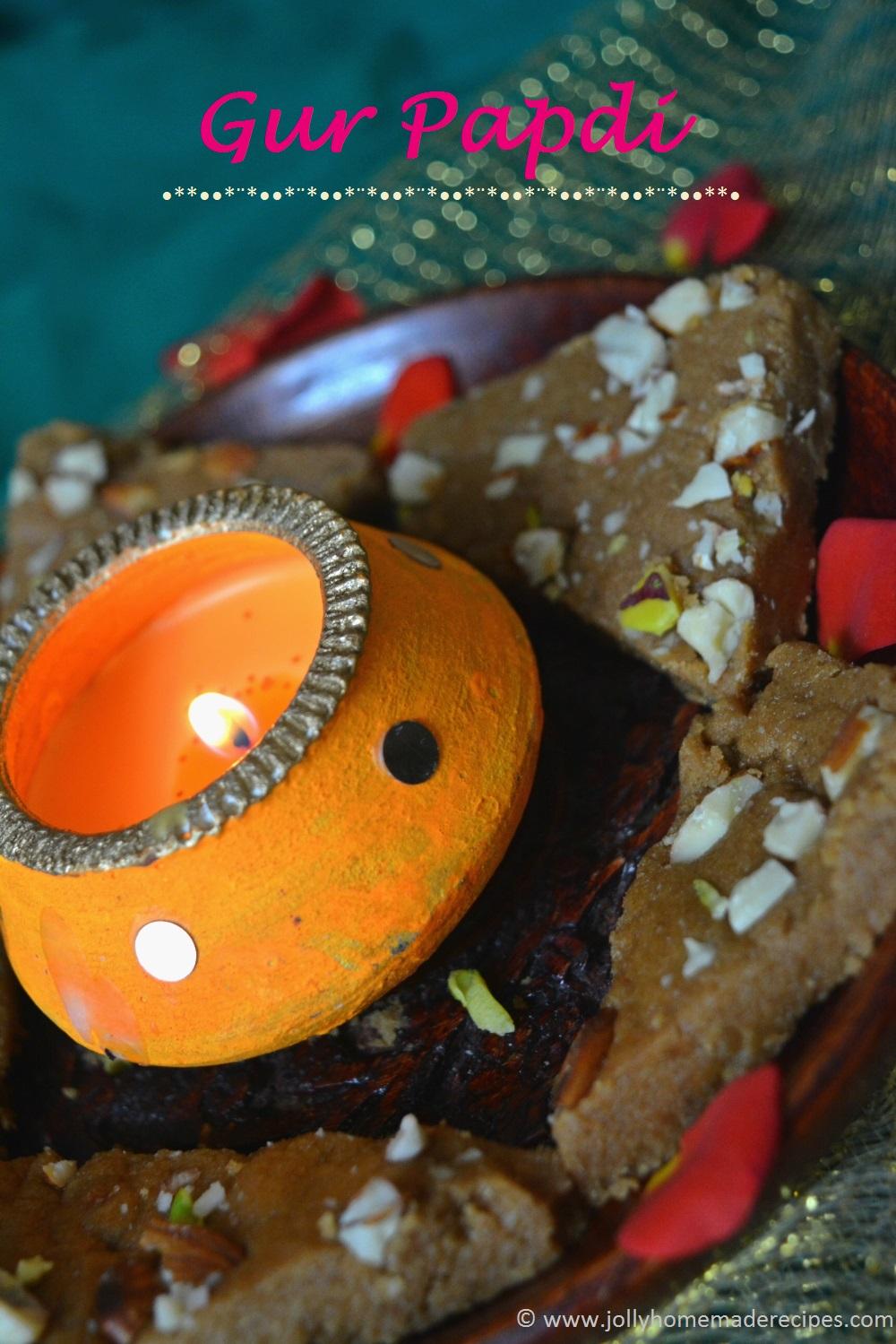 Gur Papdi Recipe, How to make Gud Papdi Recipe | Gujarati Sukhdi Recipe