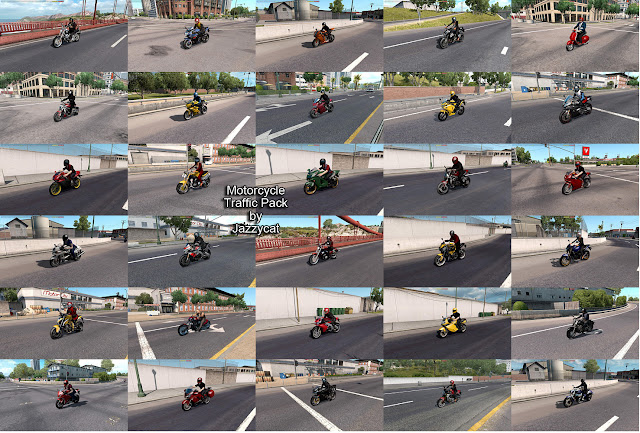 ats motorcycle traffic pack v2.4 screenshots 2