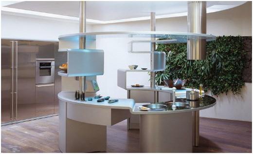cuisine inox. Black Bedroom Furniture Sets. Home Design Ideas