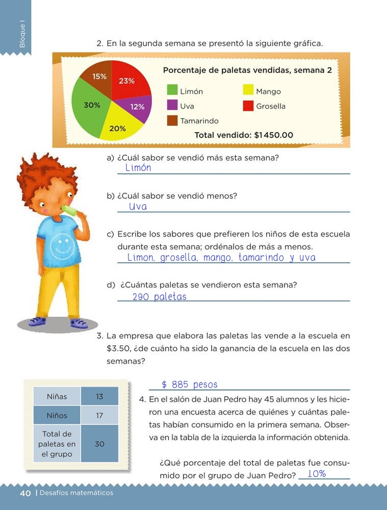 Libro de textoDesafíos Matemáticos¿Cuántas y de cuáles?Sexto gradoContestado