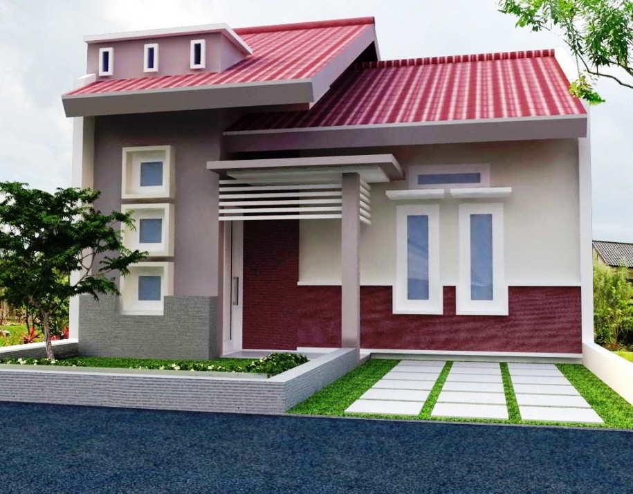 Desain Rumah Minimalis Sederhana 1 Lantai Modern Type 45
