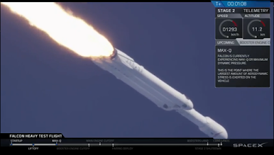 SpaceX Falcon Heavy rolling